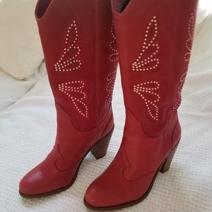 Jessica Simpson CARLEE Red ChillyPepper Western Re
